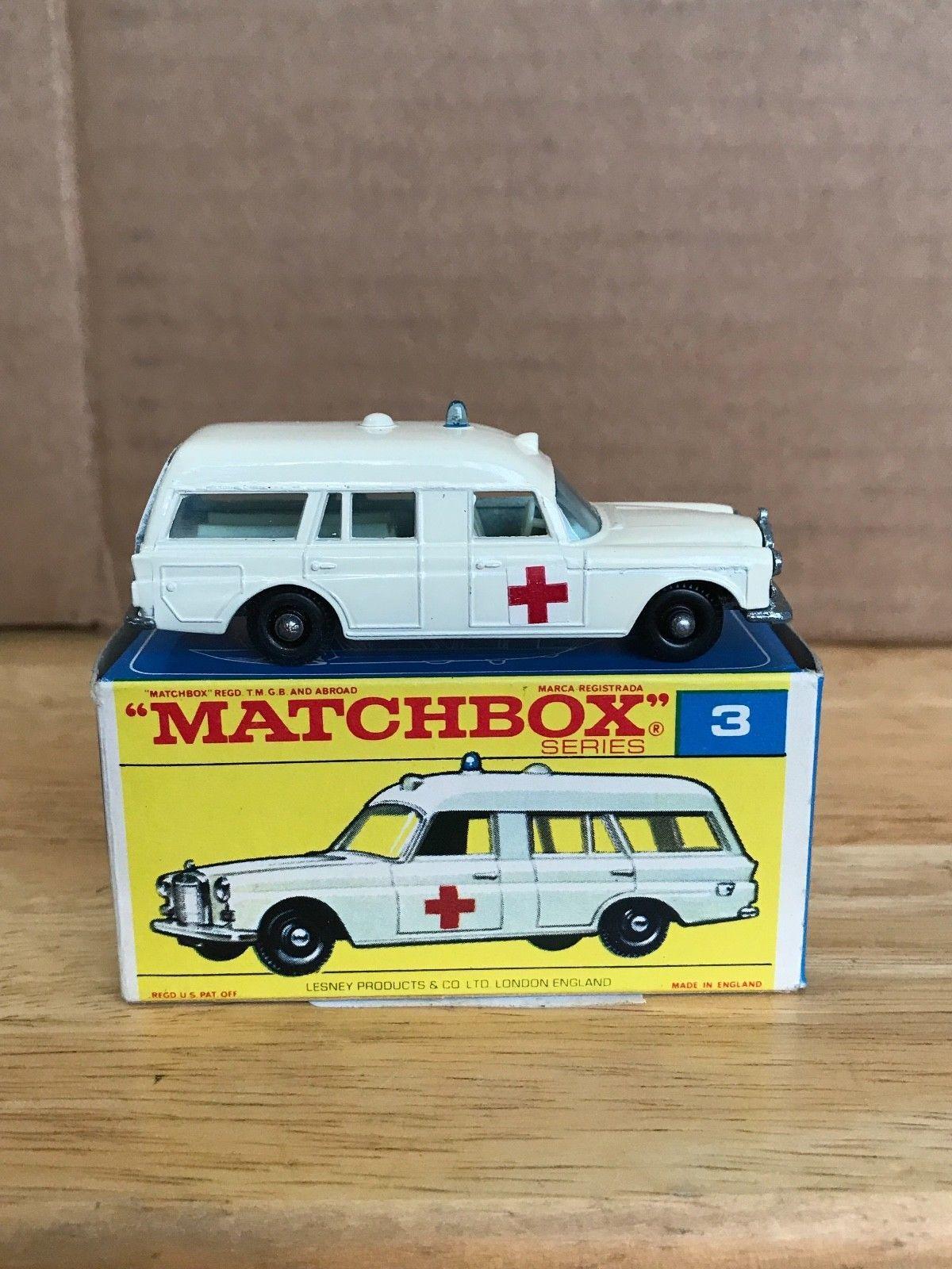 B toys cars  Vintage Lesney Matchbox Mercedes Benz Ambulance    Pinterest