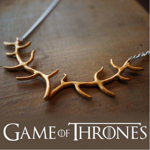 Baratheon's sigil Antler Necklace