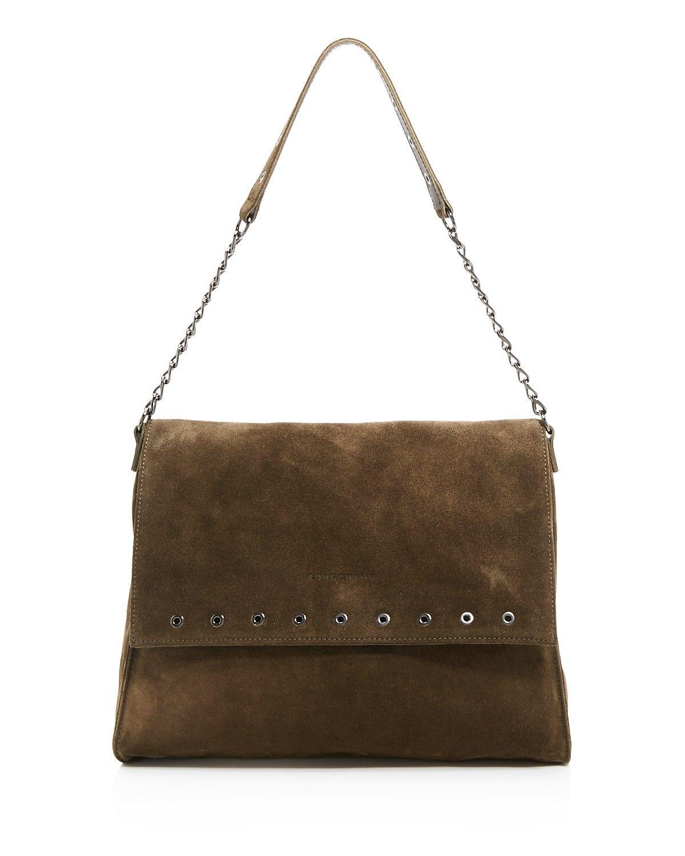 Longchamp Paris Rocks Suede Shoulder Bag  878f478674479