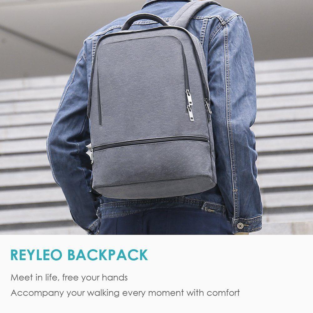 791e0f37d2ce Amazon.com: REYLEO Slim Business Laptop Backpack Men Women ...