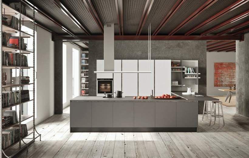 Cucine Moderne - Charme 37 - Grigio Londra - Febal Casa | Mix ...