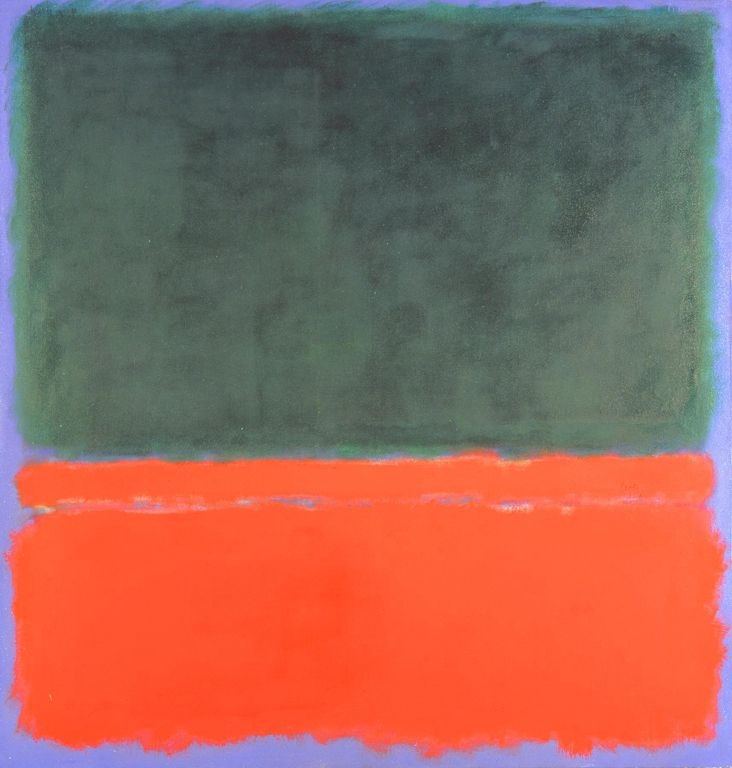 Green, Red, Blue- Mark Rothko