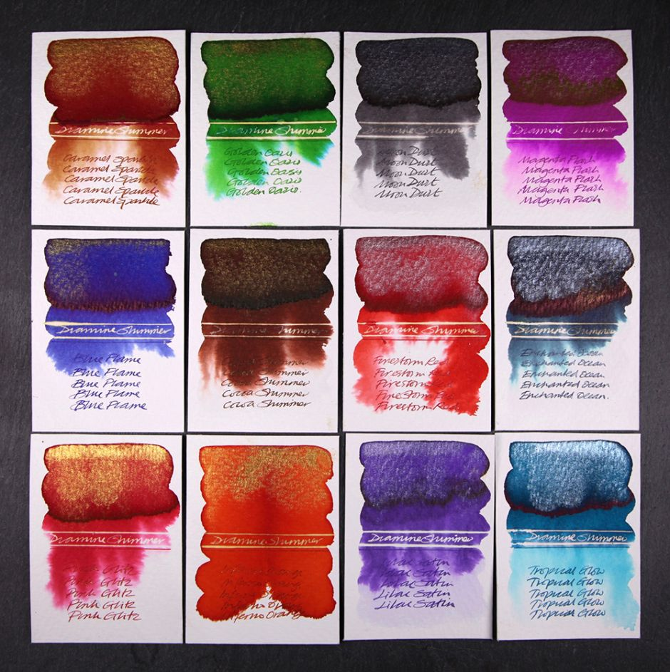 Diamine Shimmer Inks 2016 Get It On Fountain Pen Fountain