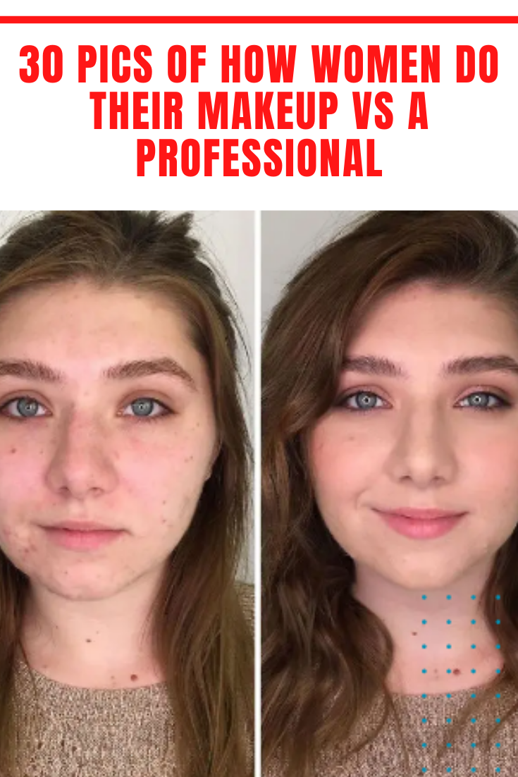30 Pics Of How Women Do Their Makeup Vs A Professional In 2020 Beauty Hacks Beauty Just Amazing