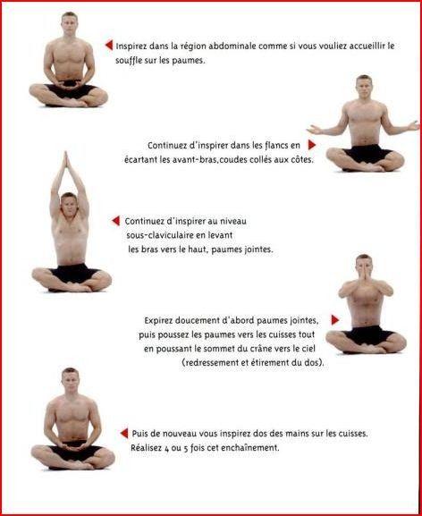 YOGA DEBUTANT - Respiration complète avec mouvements des bras