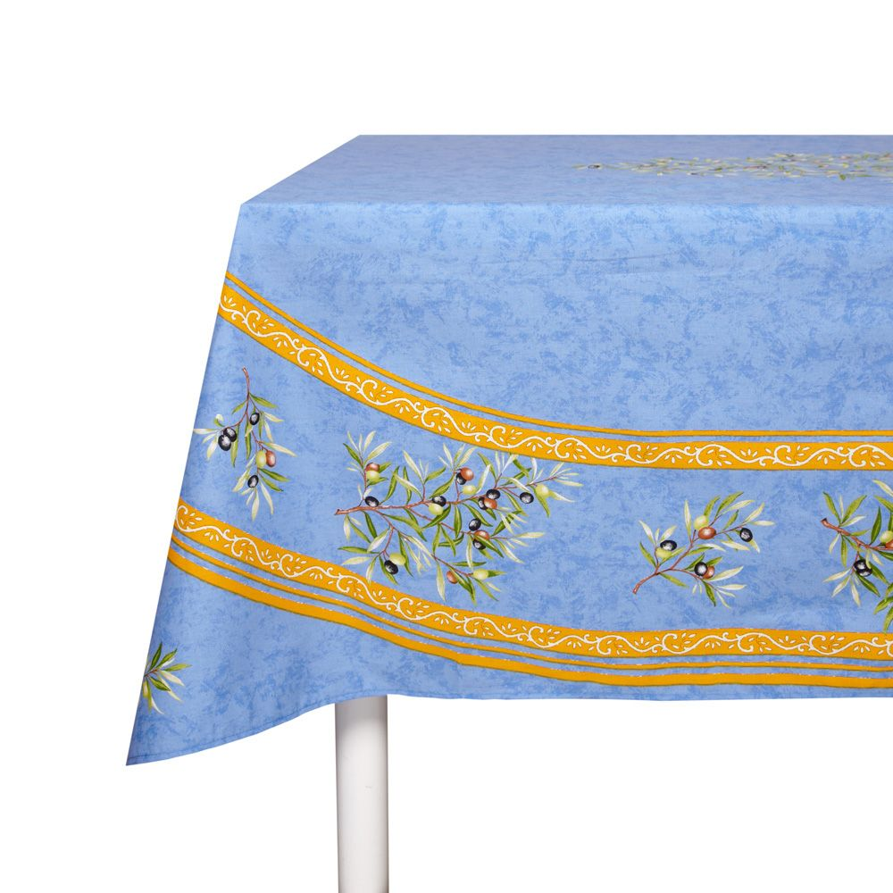 Typically Provencal Tablecloth With Olive Design.