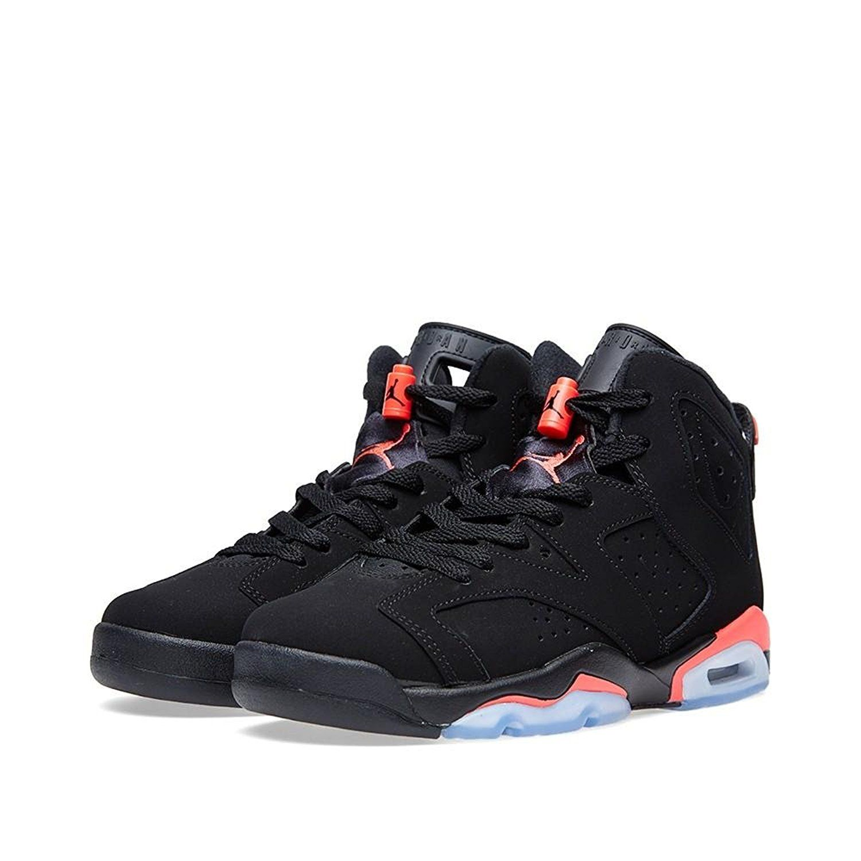 Nike Boys Air Jordan 6 Retro BG 'Infrared' Suede Basketball Shoes Nike Boys  Air