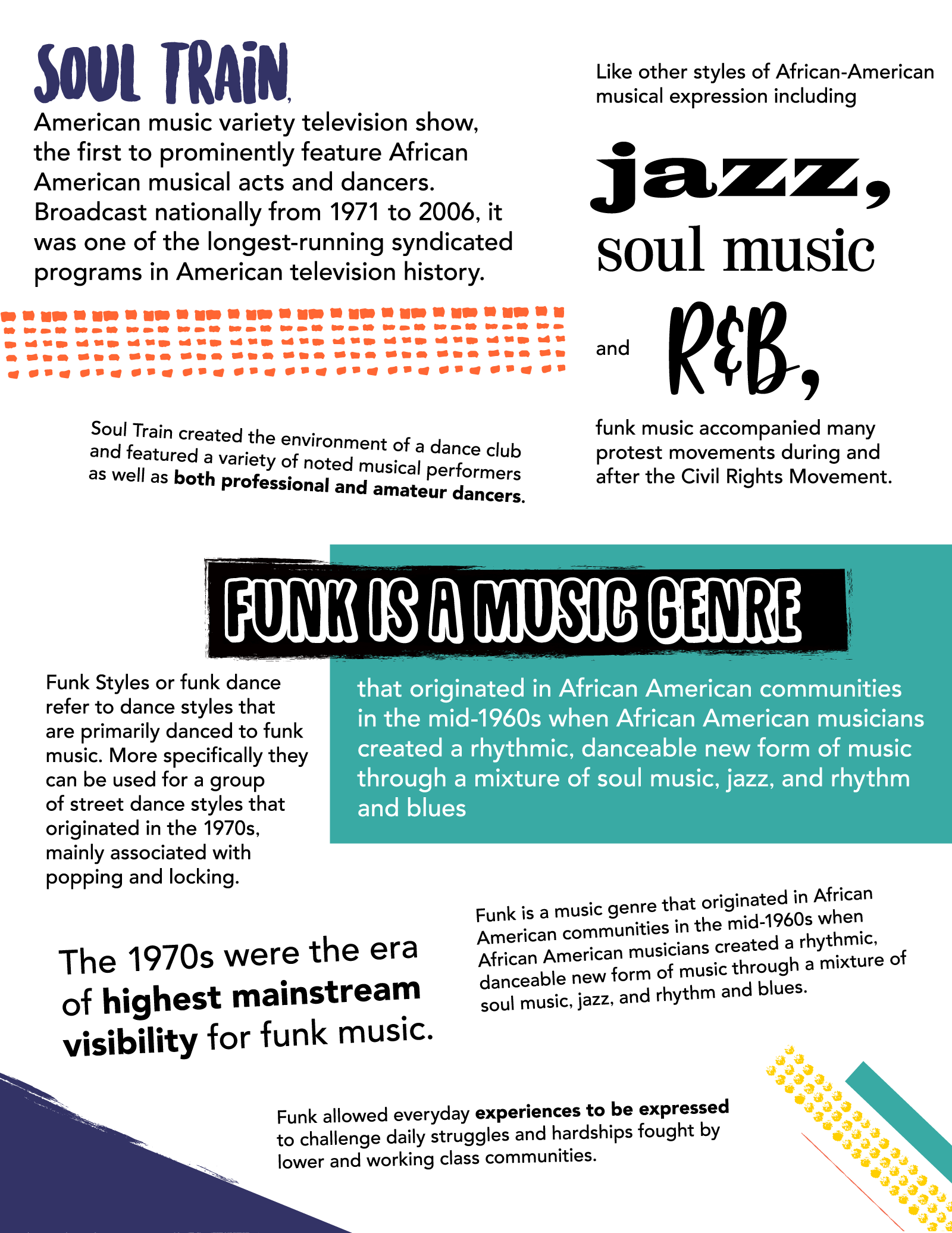 Funk Facts | Ready-Made Worksheets - some are the personal property ...