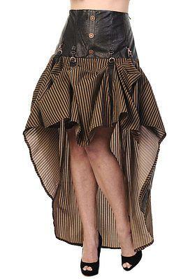 Brown Black Stripe Victorian Copper Corset Steampunk  Dress By BANNED Apparel