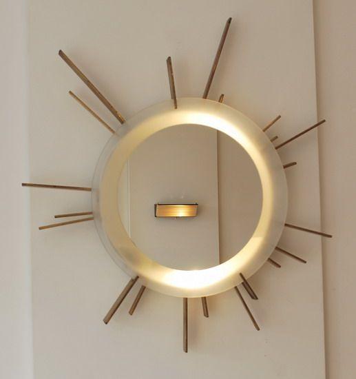 2 miroir soleil eclairant italien alexandre p pinterest lamp light product. Black Bedroom Furniture Sets. Home Design Ideas