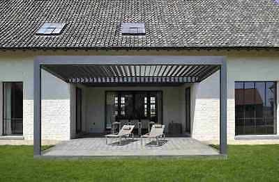 details zu alu terrassen berdachung lamellendach glasdach eingangs berdachung carport. Black Bedroom Furniture Sets. Home Design Ideas