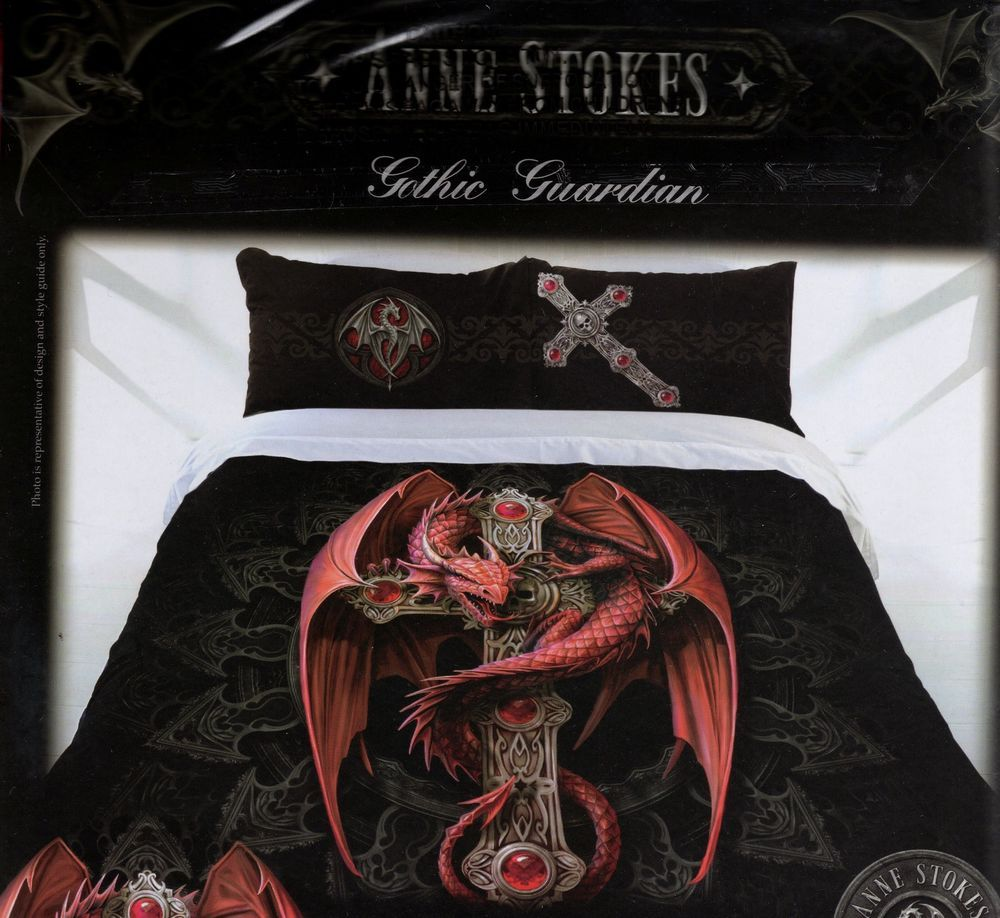 Quilt cover set double bed anne stokes doona pillow cases gothic quilt cover set double bed anne stokes doona pillow cases gothic guardian new in home ccuart Image collections