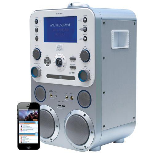 Singing Machine Classic Karaoke Machine (STVG888) - Silver ...