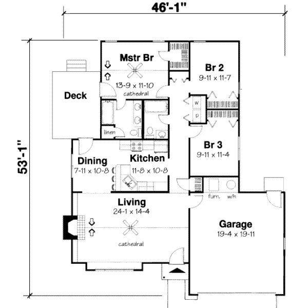 1346 Sqaure Feet 3 Bedrooms 2 Bathrooms 1 Garage Spaces 47