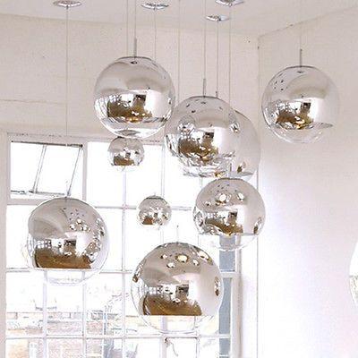 Tom Dixon Ball Silver Electroplate Glass Bar Cafe Art Ceiling