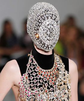 Margiela Couture Crystal Face Mask