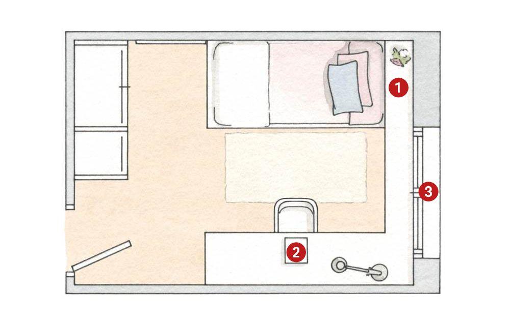Dormitorios: descanso y orden bien organizados (con ...