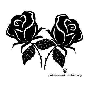Black Roses Vector Image Black Rose Free Clip Art Rose