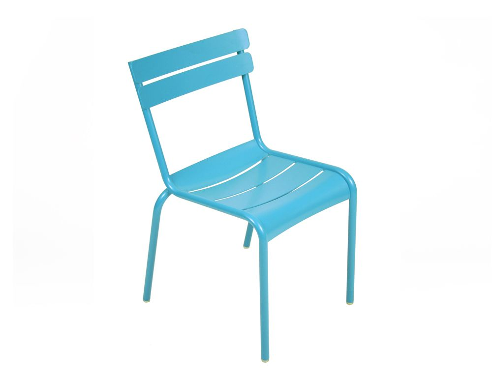 Chaise Luxembourg, chaise de jardin métal | BLEU TURQUOISE (old ...