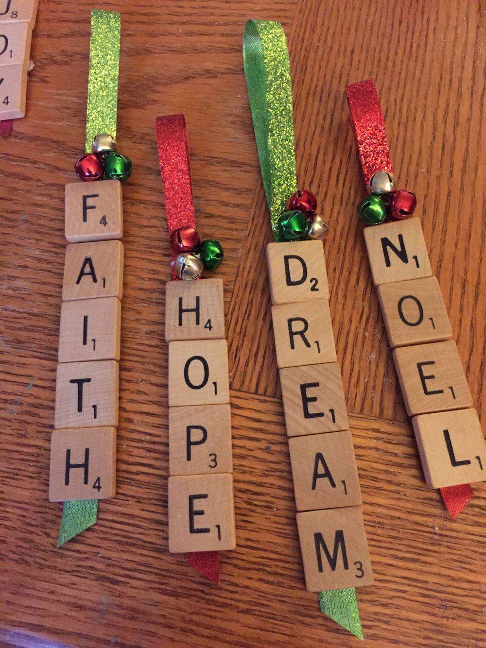 Hunter Scrabble Ornament