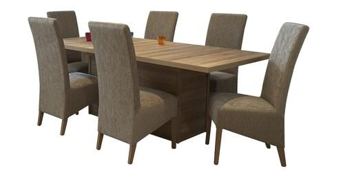 Centre Pedestal Table and 4 Padded Chairs Kendal Wild Oak | DFS ...