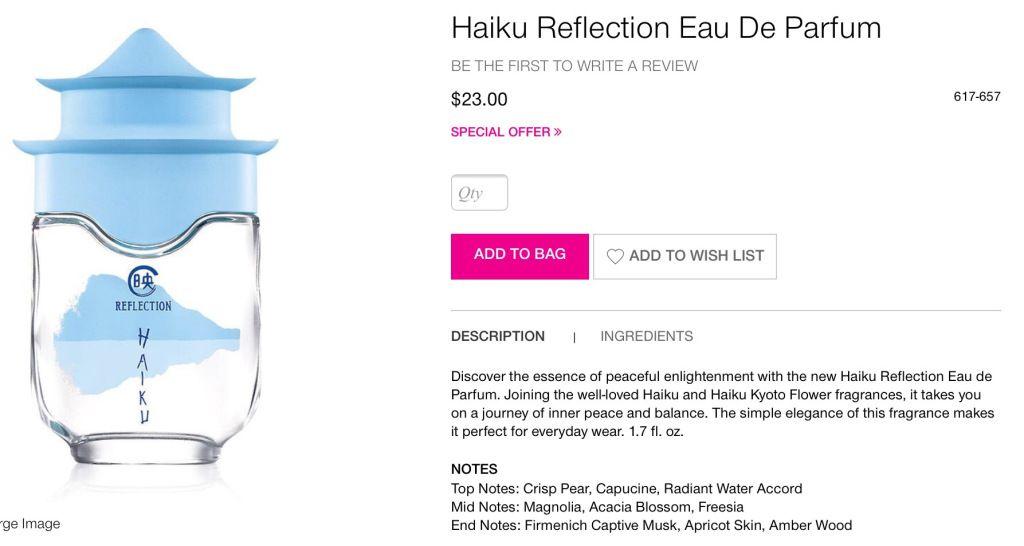 Haiku Reflection Collection #avon