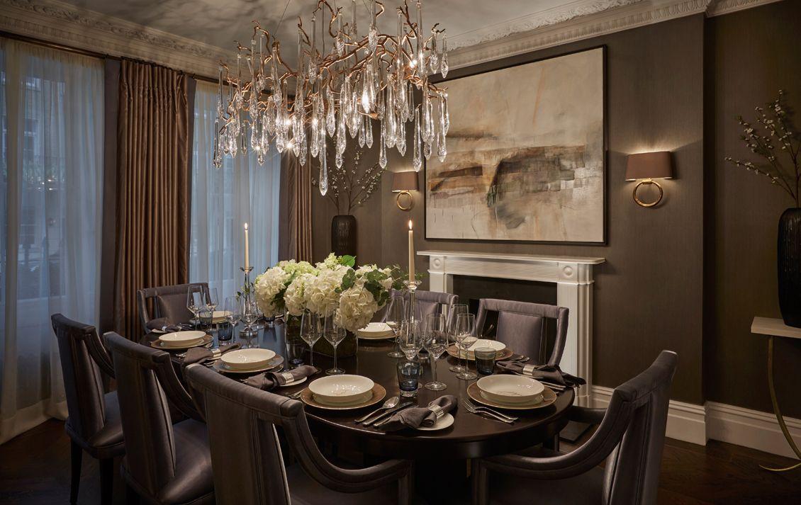 Belgravia grand townhouse luxury interior design laura for Luxury residential interior designers london