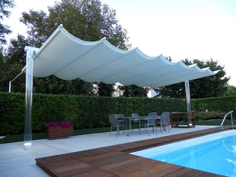 ombrellone da giardino per piscina idee arredo