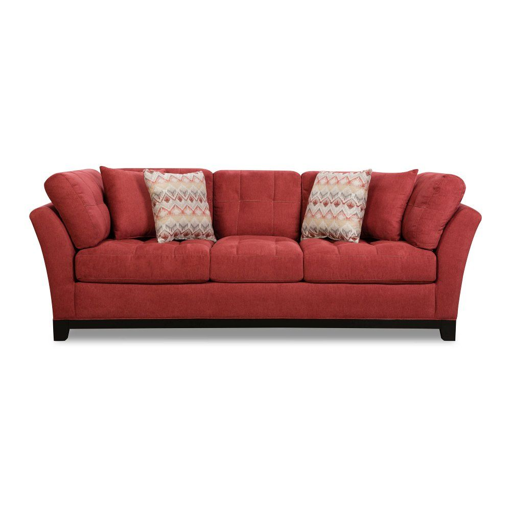 Clearance Casual Contemporary Red Sofa - Loxley | 配色 | Red sofa ...