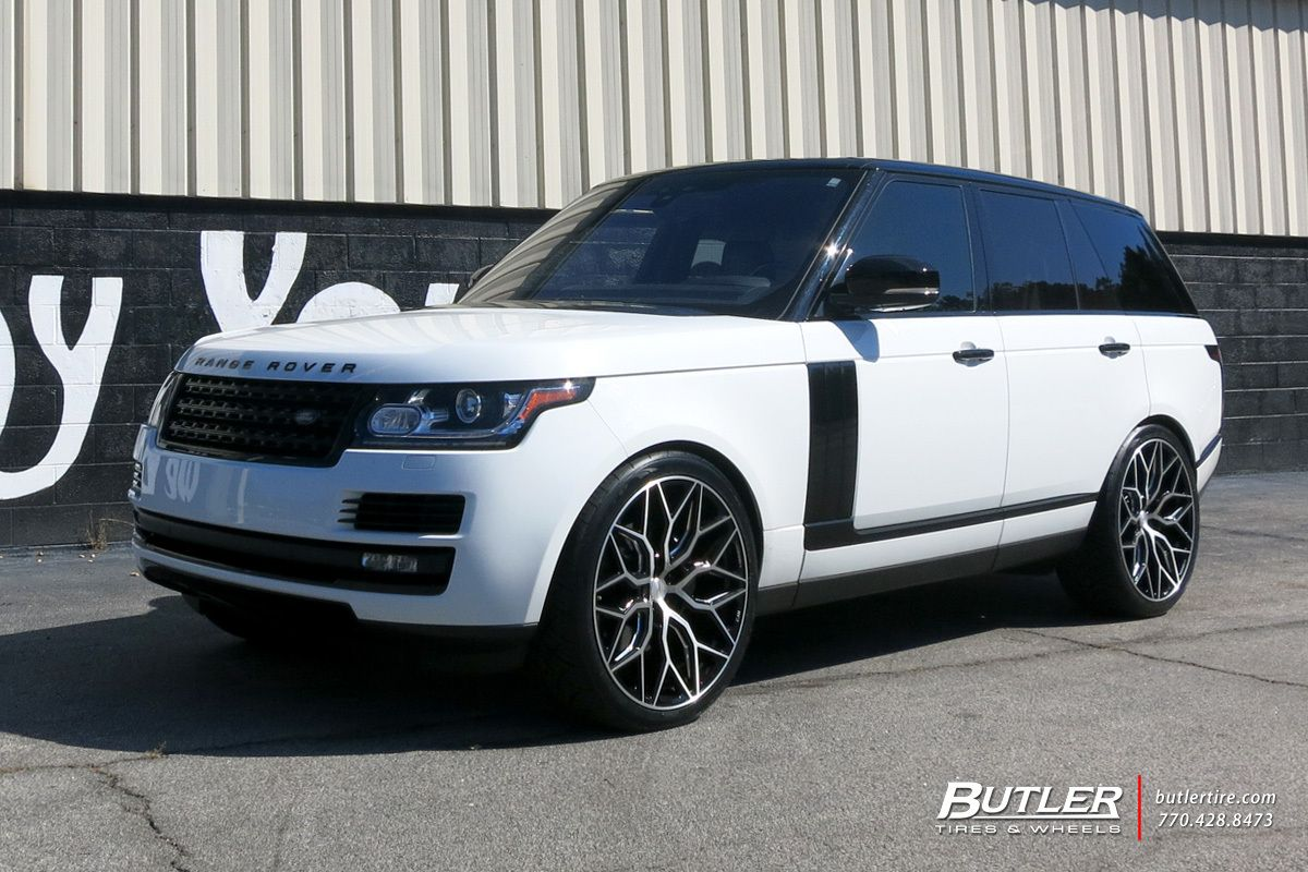 Land Rover Range Rover With 24in Vossen Hf 2 Wheels Range Rover Range Rover Wheels Land Rover