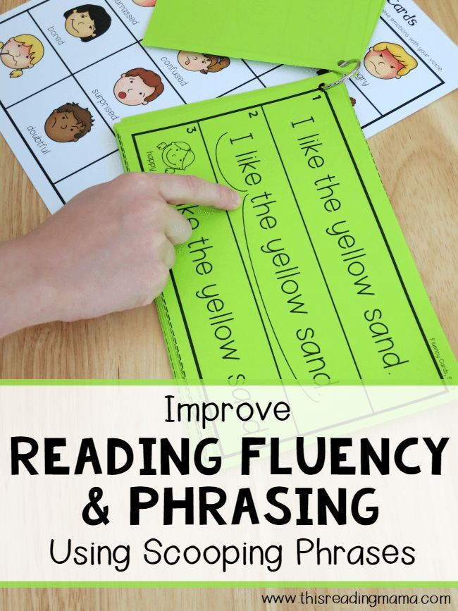 Reading Fluency and Phrasing {Using Scooping Phrases | Pinterest ...