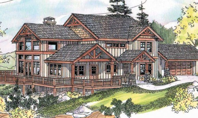 Hillside House Plans For Sloping Lots Home Building Desain Eksterior Eksterior House