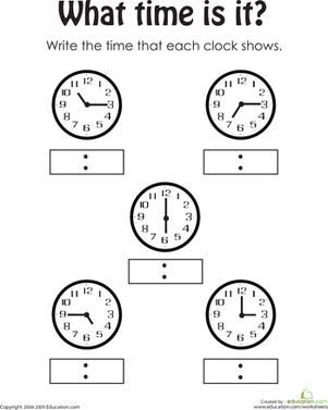 telling the time 2 worksheets printable worksheets and math. Black Bedroom Furniture Sets. Home Design Ideas