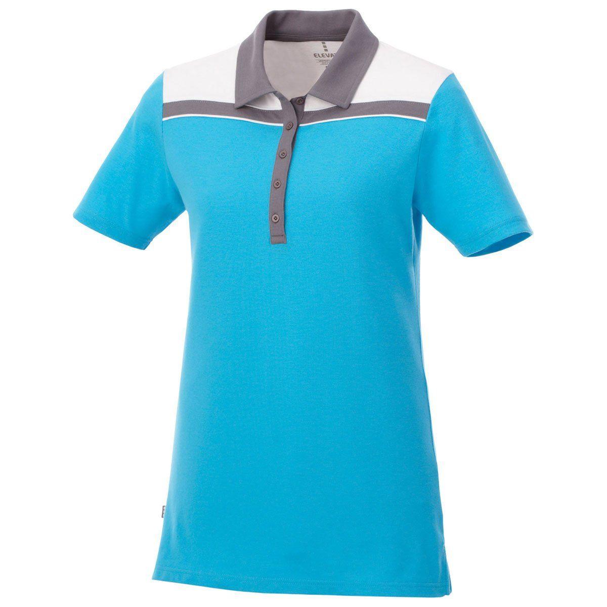 66b090c8 Elevate Women's Chill/Steel Grey/White Gydan Short Sleeve Polo ...