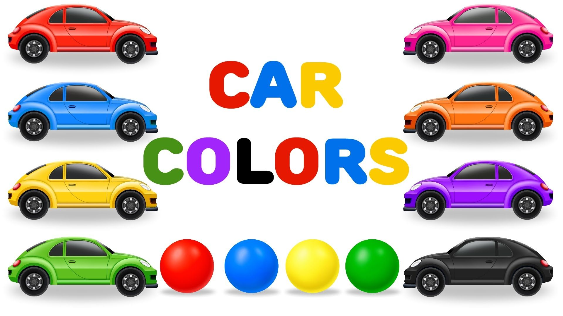Learn The Colors With Cars And Color Balls Colours For Children Coloring For Kids Clip Art Color