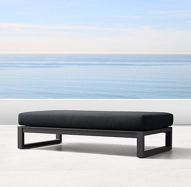 Fabulous Aegean Aluminum Coffee Table Ottoman In 2019 Cubico Home Machost Co Dining Chair Design Ideas Machostcouk