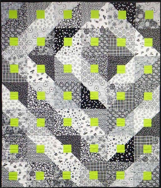 Paradigm Shift Quilt Pattern (beginner, baby, throw, lap, twin, queen, king)