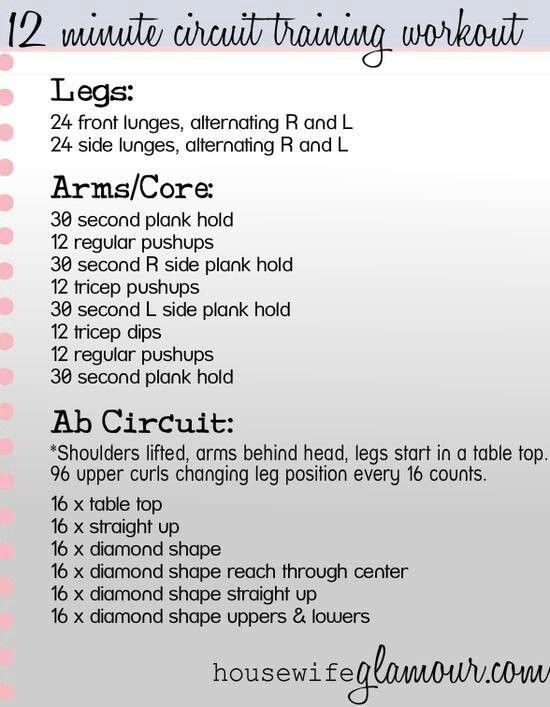 Circuit training   Health & Fitness   Circuit training