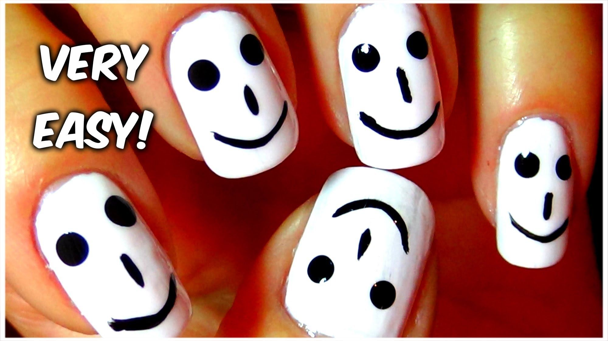 DIY Happy Smiles Nail Art pics