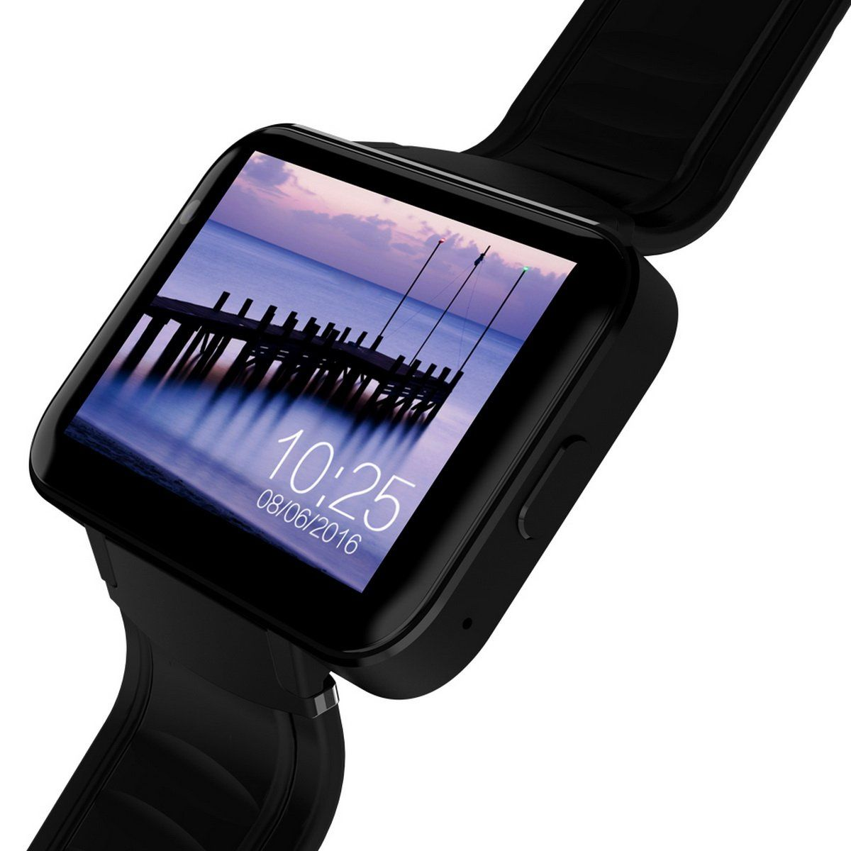 DM98 Android 3G Smart Watch Phone with 900mAh Battery Black
