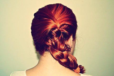 Pretty, messy plats. Ginge hair.
