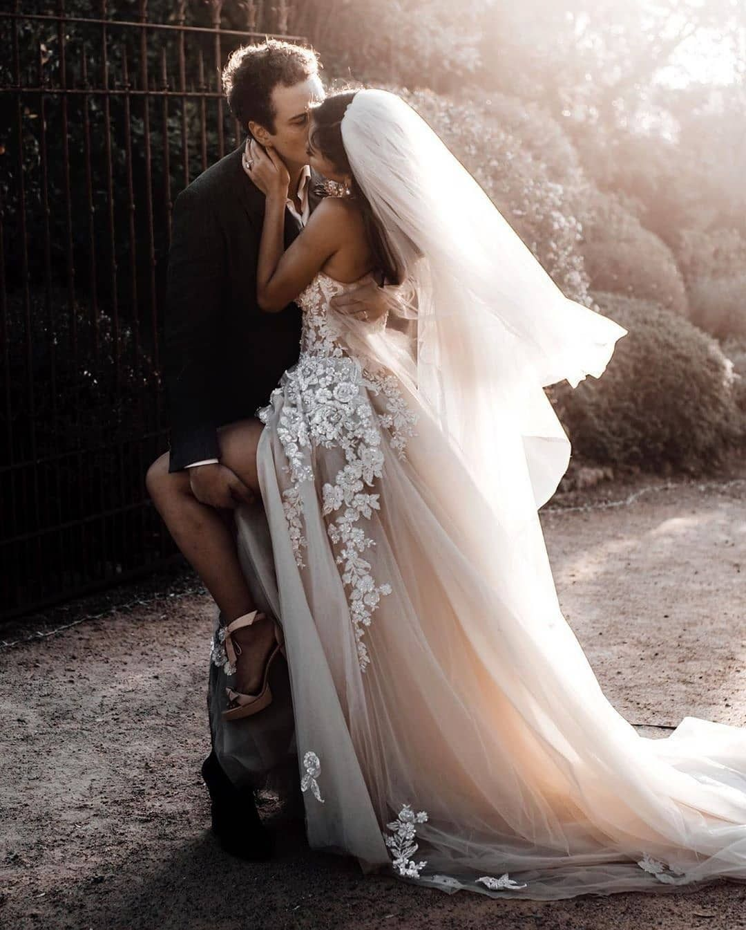 No Words Needed Just A True Love If You Like These Amazing Photos Let Us Know In Comments Below A Long Bridal Gown Wedding Dresses Wedding Dresses Strapless