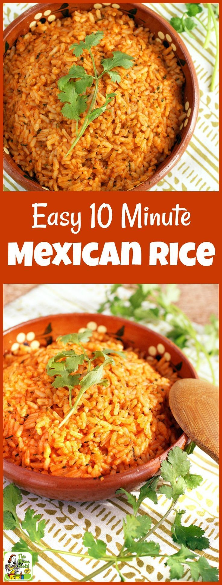 This Easy Mexican Rice recipe takes only 10 minutes to make!