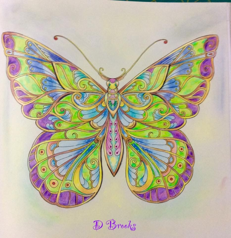 Butterfly from Magical Jungle by Johanna Basford