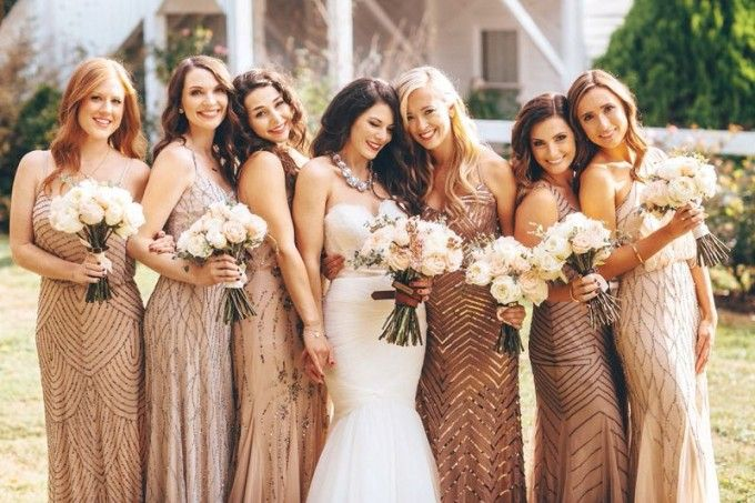 Best 20  Bronze bridesmaid dresses ideas on Pinterest | Bronze ...