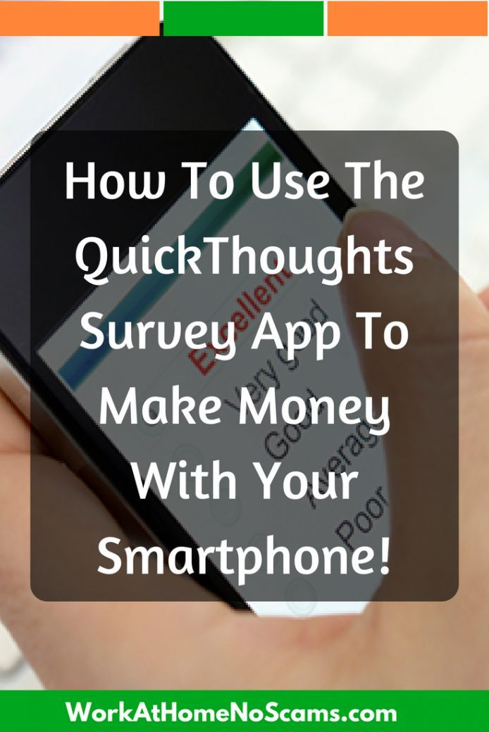 Make Money With The Quick Thoughts Survey App Quickthoughtsapp