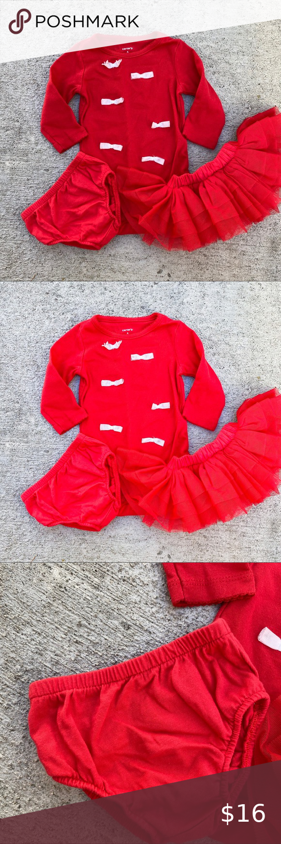 Photo of Carter's photo shoots red tutu new born 🦋top is size 6 months, bottoms are…