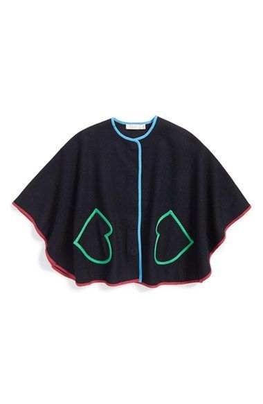 Stella McCartney Kids 'Florence' Cape (Toddler Girls)