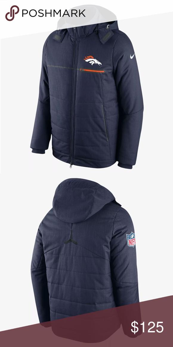 Nike Sideline NFL Denver Broncos Winter Jacket XXL Brand New 39902e16e