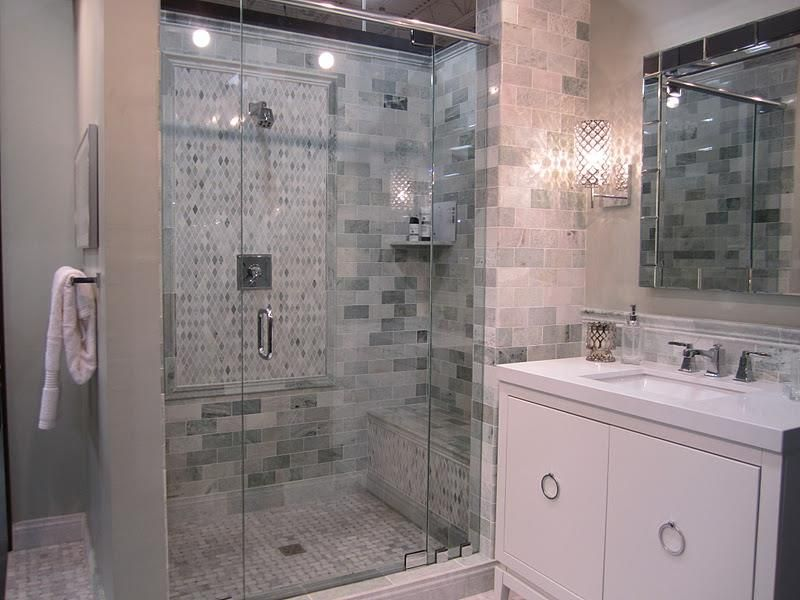 stand-up shower - works perfect for our current bathroom layout
